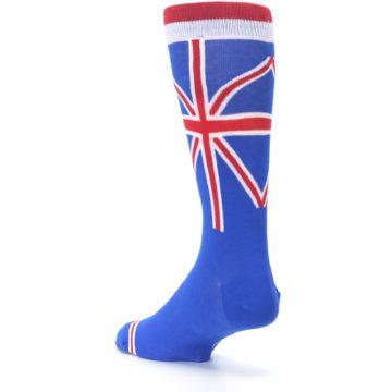 Image of Blue Red British Flag Men's Dress Socks (side-2-back-15)