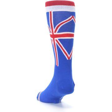Image of Blue Red British Flag Men's Dress Socks (side-2-back-16)