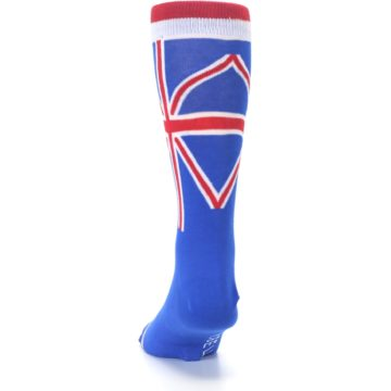 Image of Blue Red British Flag Men's Dress Socks (back-17)