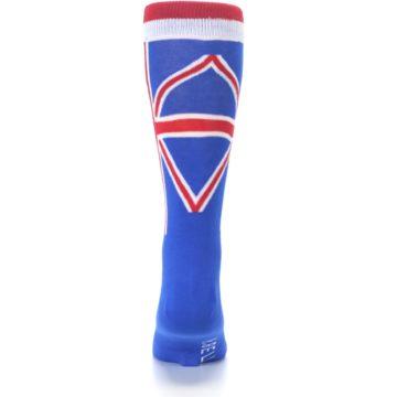Image of Blue Red British Flag Men's Dress Socks (back-18)