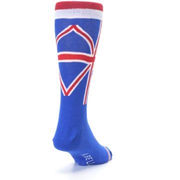 Image of Blue Red British Flag Men's Dress Socks (side-1-back-20)