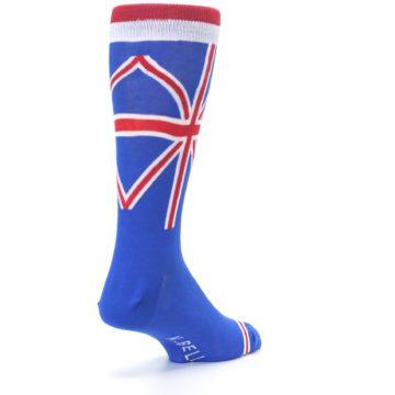 Image of Blue Red British Flag Men's Dress Socks (side-1-back-21)