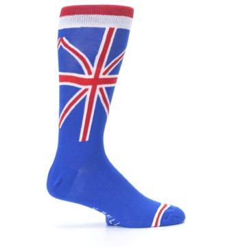 Image of Blue Red British Flag Men's Dress Socks (side-1-24)