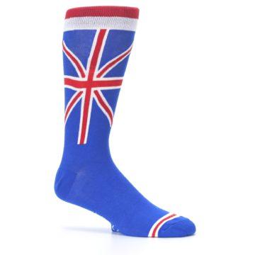 Image of Blue Red British Flag Men's Dress Socks (side-1-25)