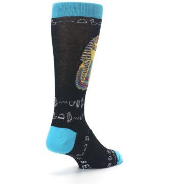 Image of Egyptian Pharaoh King Tut Men's Dress Socks (side-1-back-21)