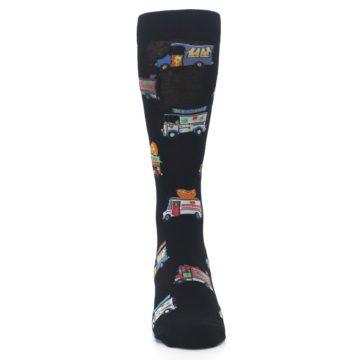 Image of Black Multi Food Trucks Men's Dress Socks (front-04)