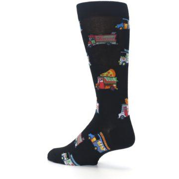Image of Black Multi Food Trucks Men's Dress Socks (side-2-back-14)