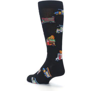 Image of Black Multi Food Trucks Men's Dress Socks (side-2-back-15)