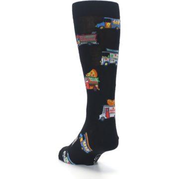 Image of Black Multi Food Trucks Men's Dress Socks (side-2-back-16)