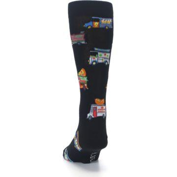 Image of Black Multi Food Trucks Men's Dress Socks (back-17)