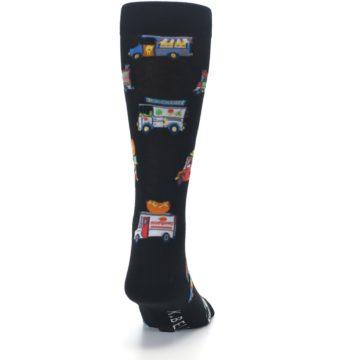 Image of Black Multi Food Trucks Men's Dress Socks (back-19)
