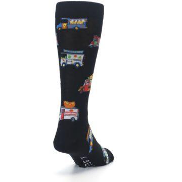 Image of Black Multi Food Trucks Men's Dress Socks (side-1-back-20)