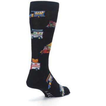 Image of Black Multi Food Trucks Men's Dress Socks (side-1-back-21)