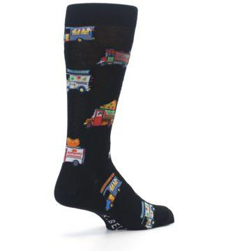 Image of Black Multi Food Trucks Men's Dress Socks (side-1-back-22)