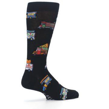 Image of Black Multi Food Trucks Men's Dress Socks (side-1-23)