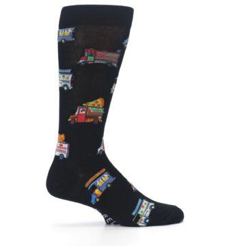 Image of Black Multi Food Trucks Men's Dress Socks (side-1-24)