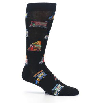 Image of Black Multi Food Trucks Men's Dress Socks (side-1-25)