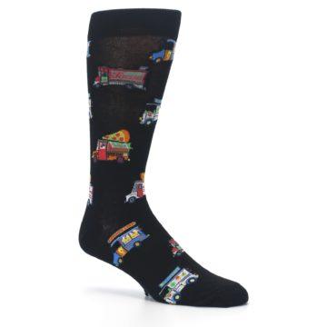 Image of Black Multi Food Trucks Men's Dress Socks (side-1-26)