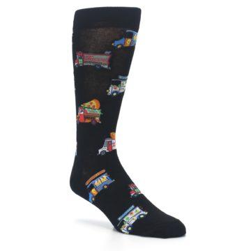 Image of Black Multi Food Trucks Men's Dress Socks (side-1-27)