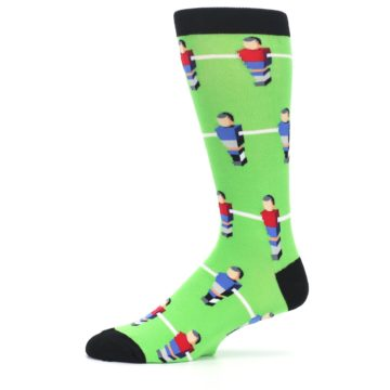 Image of Green Blue Red Foosball Players Men's Dress Socks (side-2-11)
