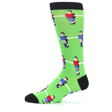 Image of Green Blue Red Foosball Players Men's Dress Socks (side-2-12)