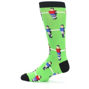 Image of Green Blue Red Foosball Players Men's Dress Socks (side-2-13)