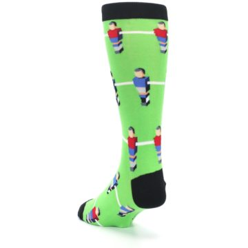 Image of Green Blue Red Foosball Players Men's Dress Socks (side-2-back-16)