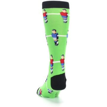 Image of Green Blue Red Foosball Players Men's Dress Socks (back-17)