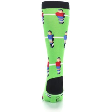 Image of Green Blue Red Foosball Players Men's Dress Socks (back-18)