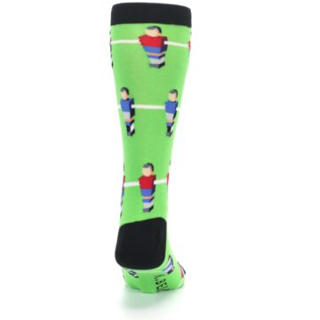 Image of Green Blue Red Foosball Players Men's Dress Socks (back-19)