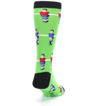 Image of Green Blue Red Foosball Players Men's Dress Socks (side-1-back-20)