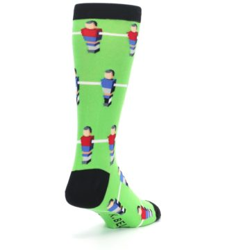 Image of Green Blue Red Foosball Players Men's Dress Socks (side-1-back-21)