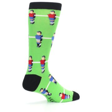 Image of Green Blue Red Foosball Players Men's Dress Socks (side-1-23)