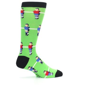 Image of Green Blue Red Foosball Players Men's Dress Socks (side-1-24)