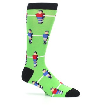 Image of Green Blue Red Foosball Players Men's Dress Socks (side-1-25)