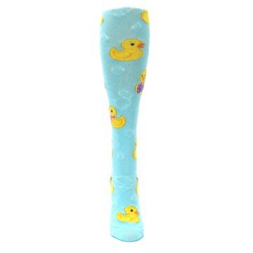 Image of Light Blue Rubber Ducks Women's Knee High Socks (front-05)