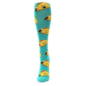 Image of Turquoise Yellow Tacos Women's Knee High Socks (front-05)
