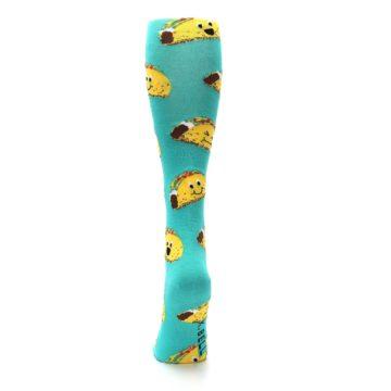 Image of Turquoise Yellow Tacos Women's Knee High Socks (back-17)