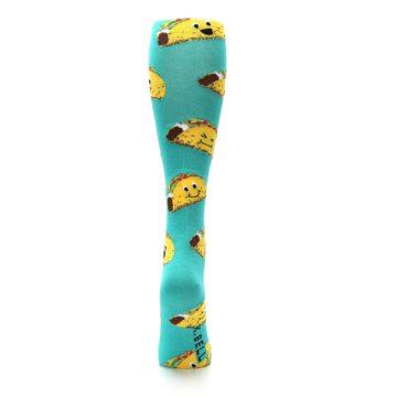 Image of Turquoise Yellow Tacos Women's Knee High Socks (back-18)