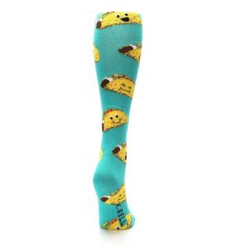 Image of Turquoise Yellow Tacos Women's Knee High Socks (back-19)