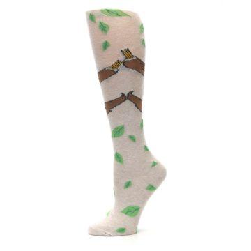 Image of Tan Brown Sloth Women's Knee High Socks (side-2-11)