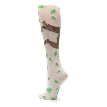 Image of Tan Brown Sloth Women's Knee High Socks (side-2-back-15)