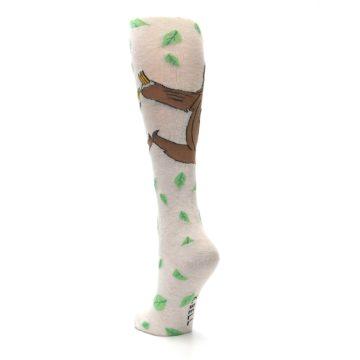 Image of Tan Brown Sloth Women's Knee High Socks (side-2-back-16)