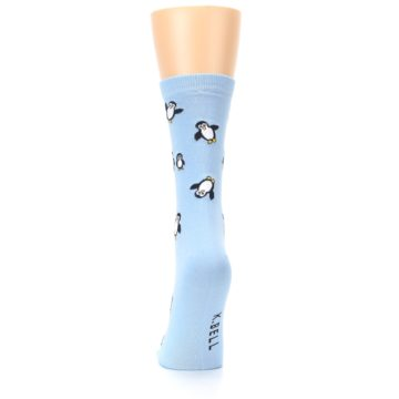 Image of Light Blue Penguins Women's Dress Socks (back-18)