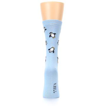 Image of Light Blue Penguins Women's Dress Socks (back-19)