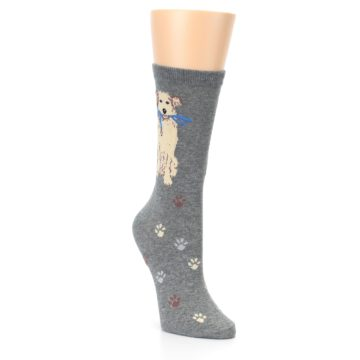 Image of Gray Dog Walk Women's Dress Socks (side-1-front-02)