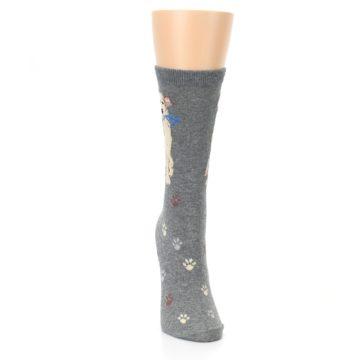 Image of Gray Dog Walk Women's Dress Socks (front-04)