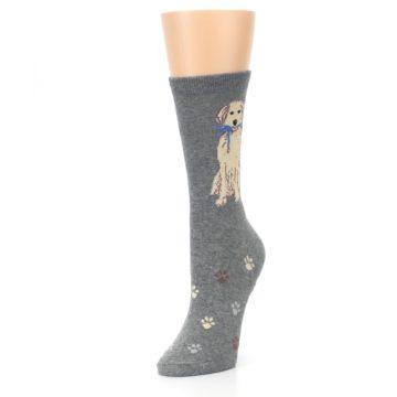 Image of Gray Dog Walk Women's Dress Socks (side-2-front-08)