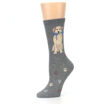 Image of Gray Dog Walk Women's Dress Socks (side-2-10)