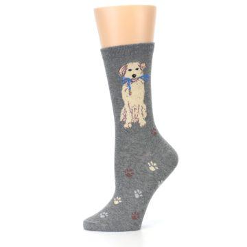 Image of Gray Dog Walk Women's Dress Socks (side-2-11)